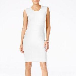 Bar III Crochet-Trim Sheath Washed White Dress